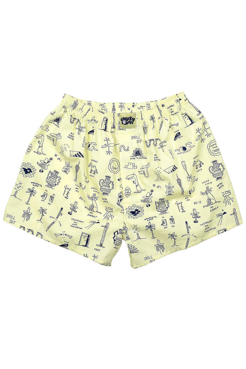 Lousy Livin Underwear Tattoo 2 Boxers (tender yellow)