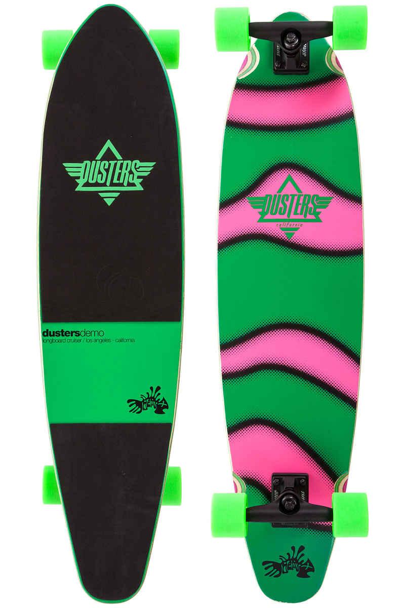 """Dusters Demo GITD 38"""" (96cm) Komplett-Longboard (green pink)"""