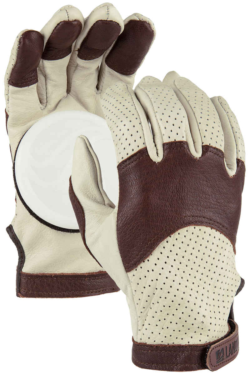 Landyachtz Burly Leather Slide Gloves (beige)