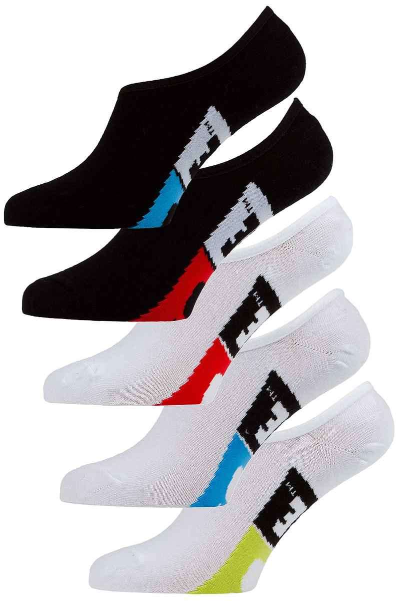 Globe Stamped Invisible Socken US 7-11 (assorted) 5er Pack