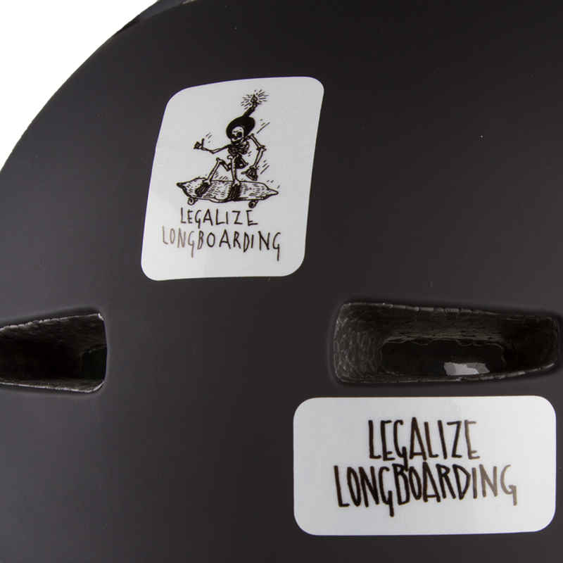 Legalize Longboarding Cat's Eye Caution Sticker (reflective)