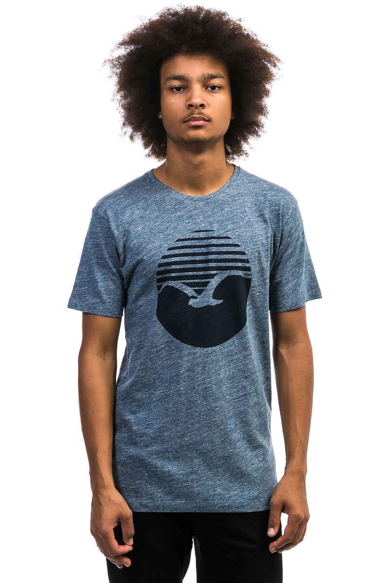 Cleptomanicx Vintage Print T-Shirt (vintage blue)