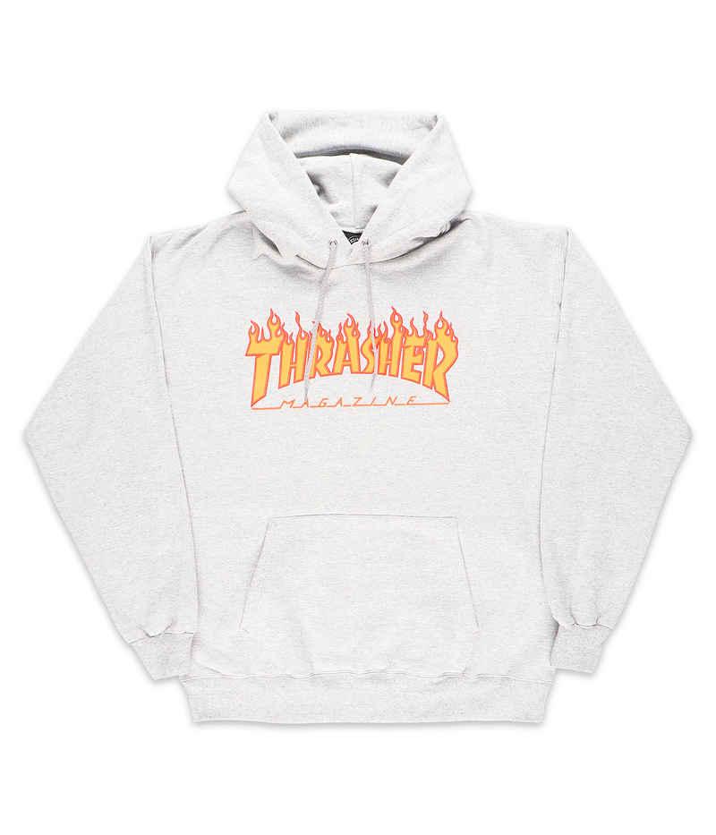 Thrasher Flame Hoodie (heather grey)