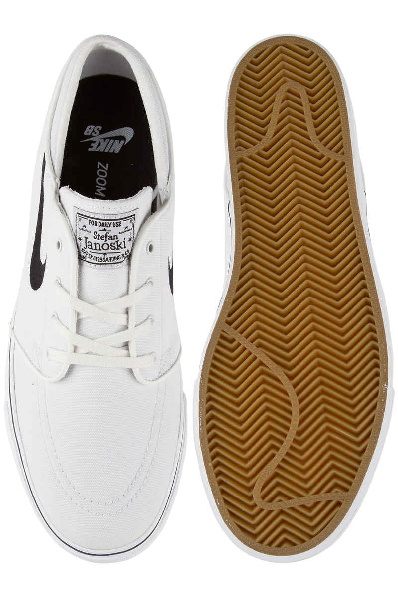 Nike SB Zoom Stefan Janoski Canvas Shoes (summit white black)