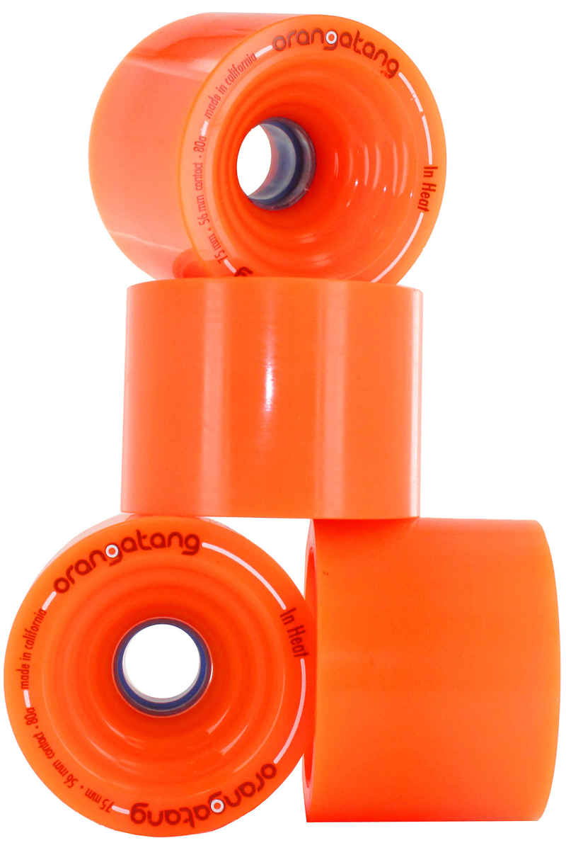Orangatang In Heat 75mm 80A Wheels (orange) 4 Pack