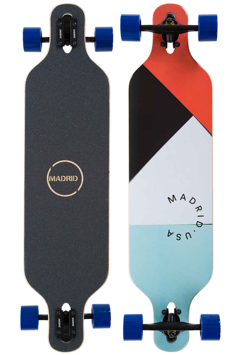 "Madrid Trance DT 39"" (99cm) Complete-Longboard (papercuts)"