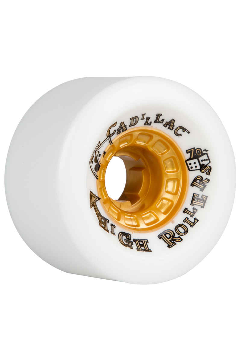 Cadillac Wheels High Rollers Roue (white) 4 Pack 70mm 79A
