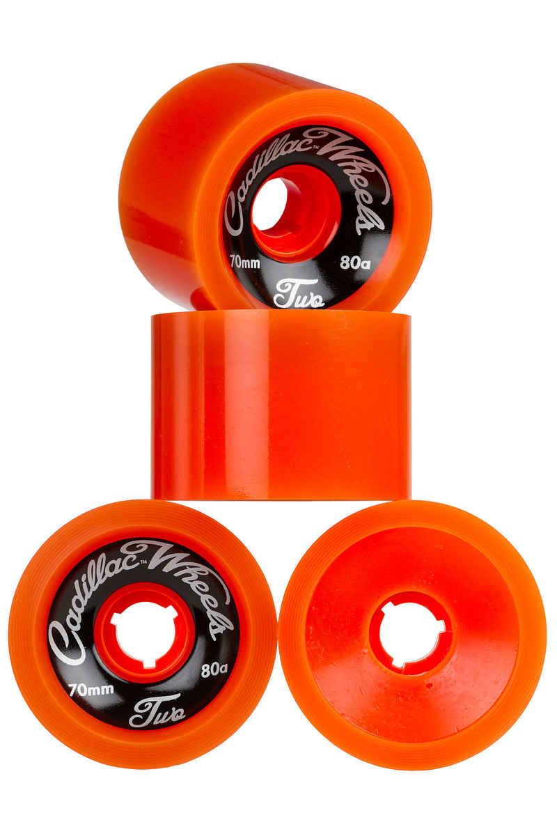 Cadillac Wheels Classic Two Wiel (orange) 4 Pack 70mm 80A