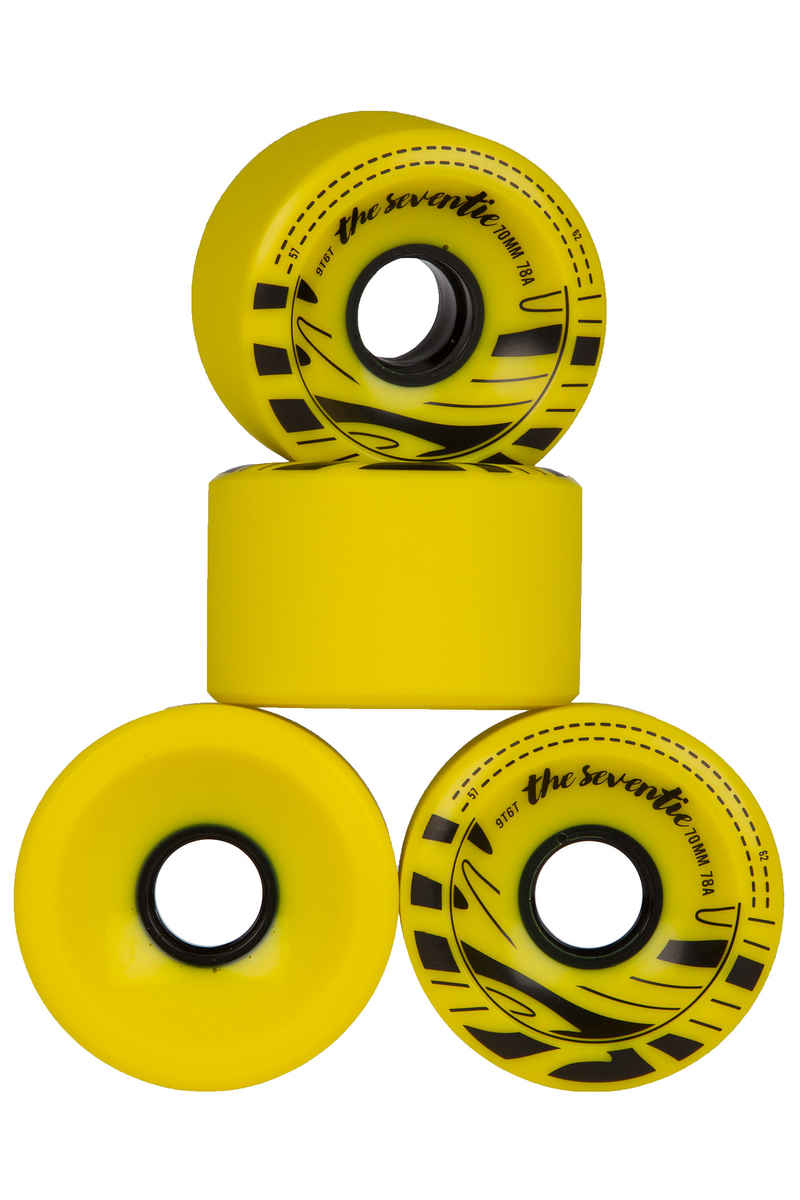Ninetysixty Slide Wheels (yellow) 4 Pack 70mm 78A