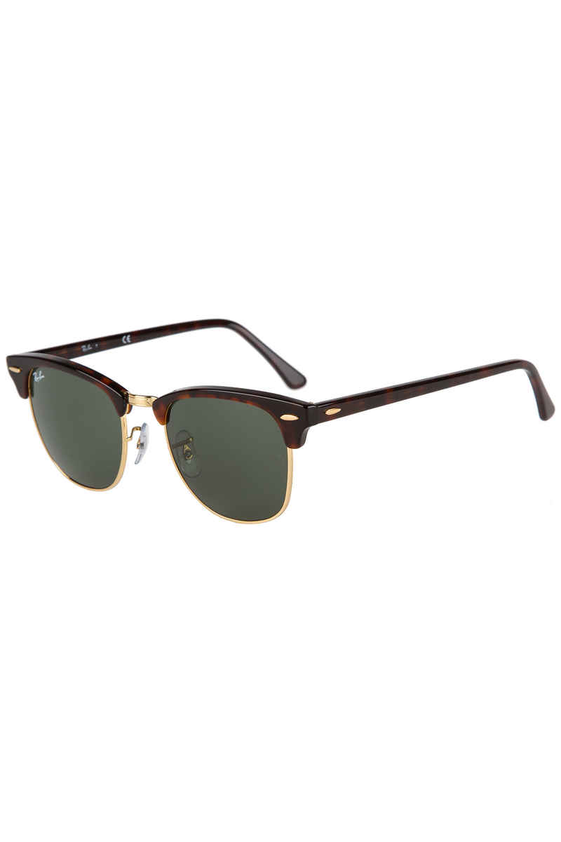 Ray-Ban Clubmaster Sonnenbrille 51mm (mock tortoise arista green)