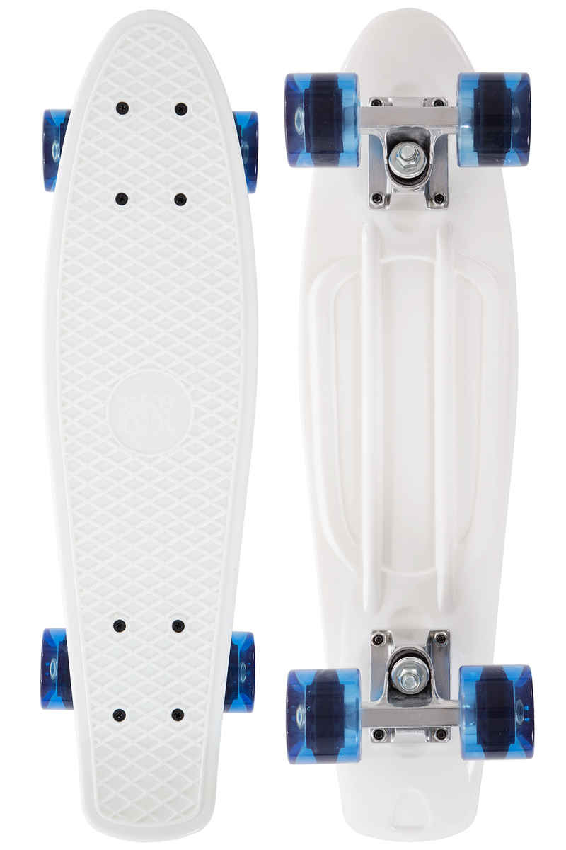 "SK8DLX Asphalt 22"" Cruiser (white clear blue)"