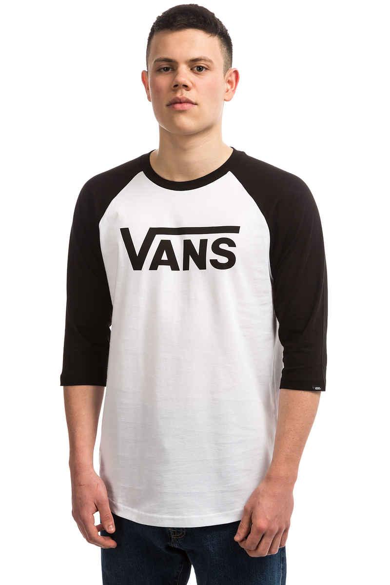 Vans Classic Raglan 3/4 Longsleeve (white black)