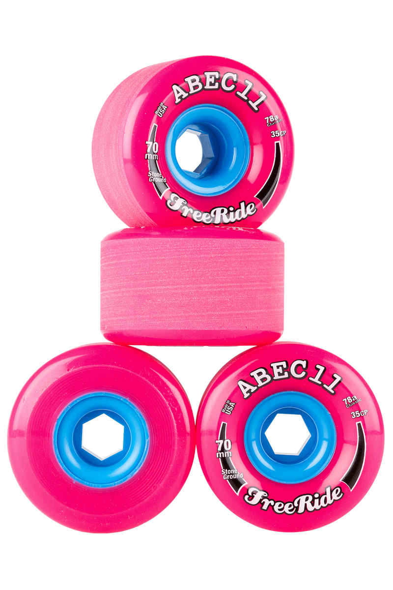 ABEC 11 Classic Freeride Wheels (pink) 4 Pack 70mm 78A