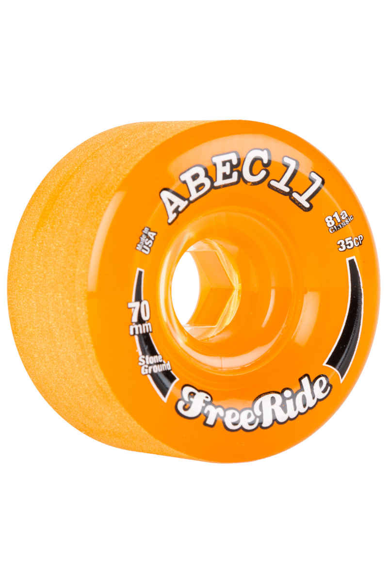 ABEC 11 Classic Freeride 70mm 81A Wheels (amber) 4 Pack