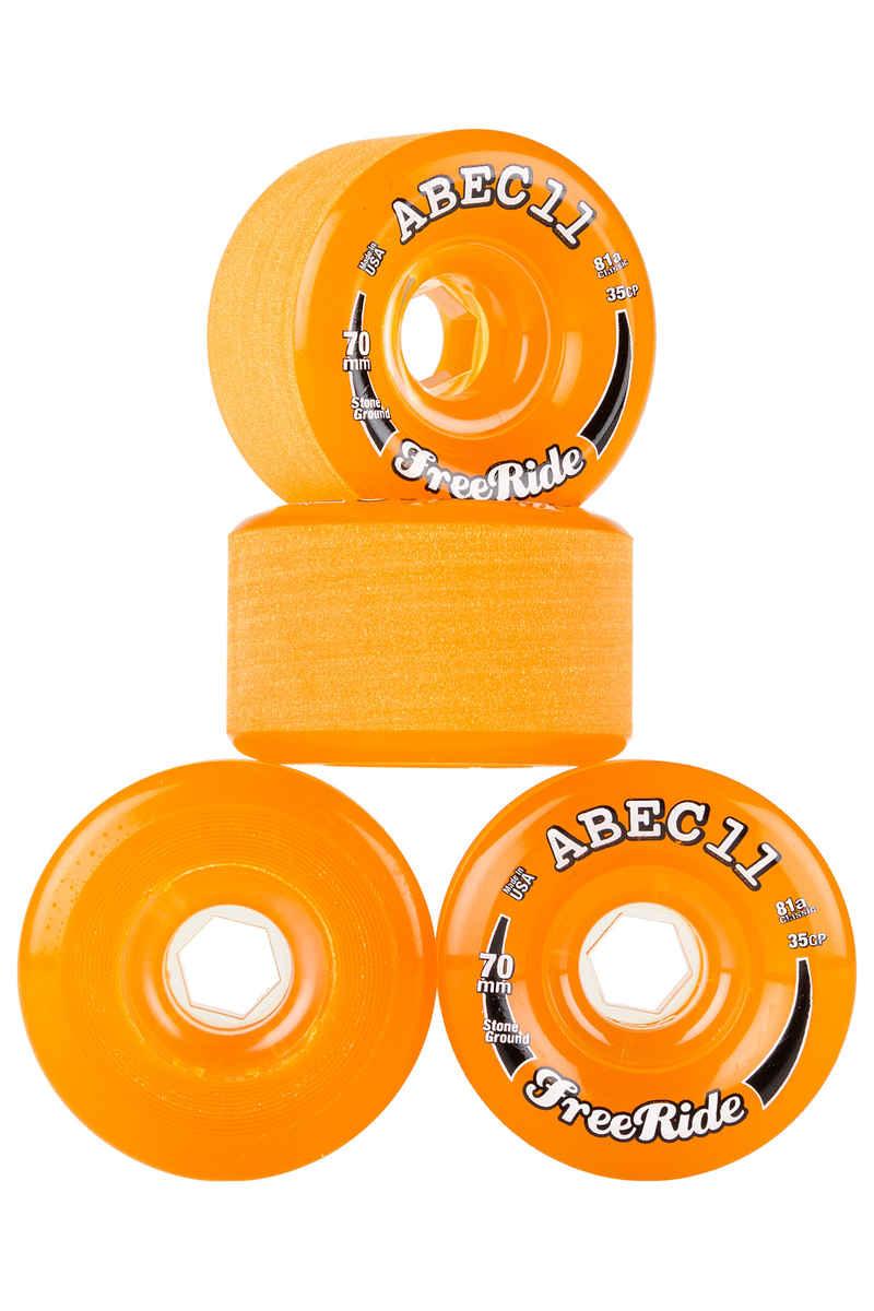 ABEC 11 Classic Freeride Ruote pacco da 4 70mm 81A