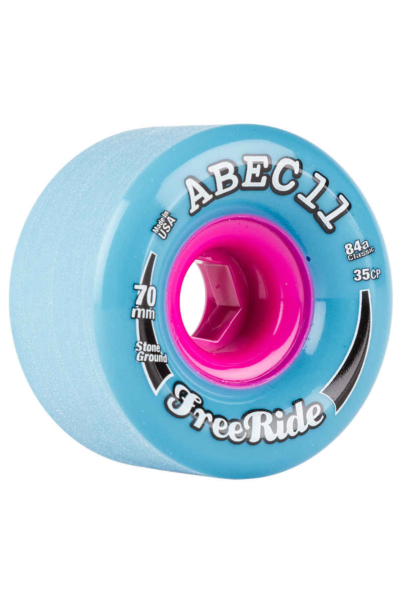 ABEC 11 Classic Freeride 70mm 84A Wheels (blue) 4 Pack