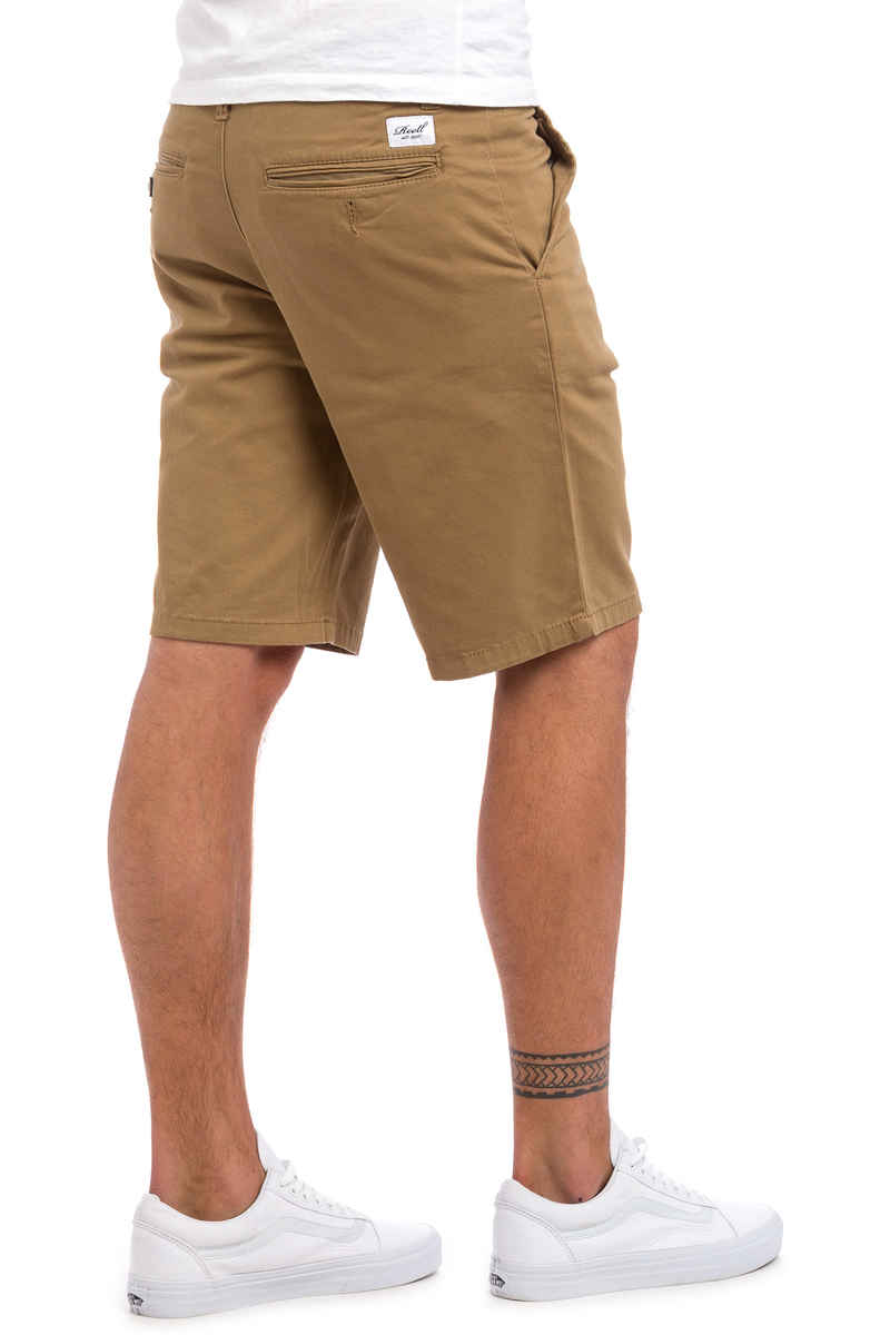 REELL Flex Grip Chino Shorts (dark sand)