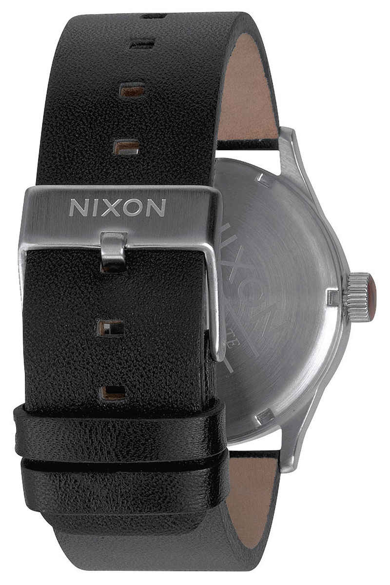 Nixon The Sentry Leather Montre (black)