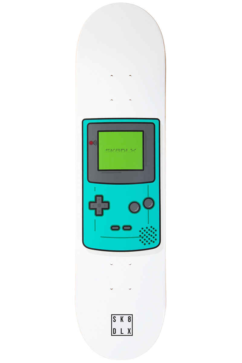"SK8DLX Game Over 7.875"" Deck (white turquoise)"