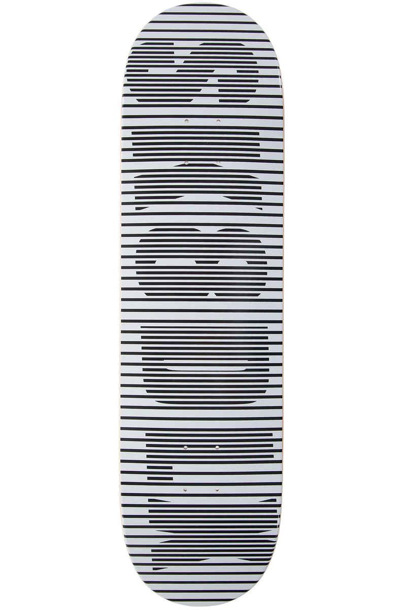 "SK8DLX Stripe Series 8.5"" Planche Skate (white black)"