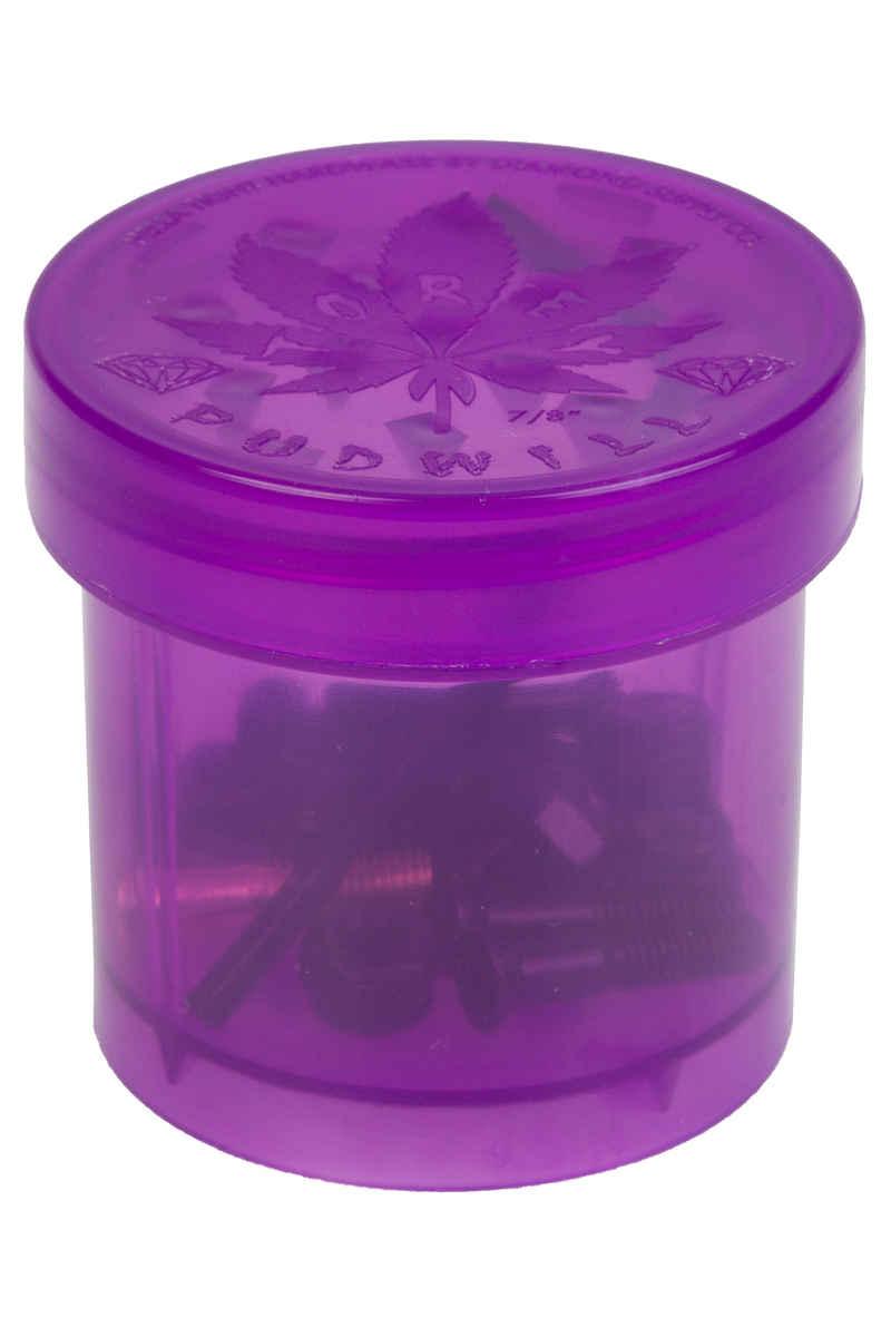 "Diamond Hella Tight Pudwill 7/8"" Set de vis inkl. Grinder (purple) Flathead (tête fraisée) allen"
