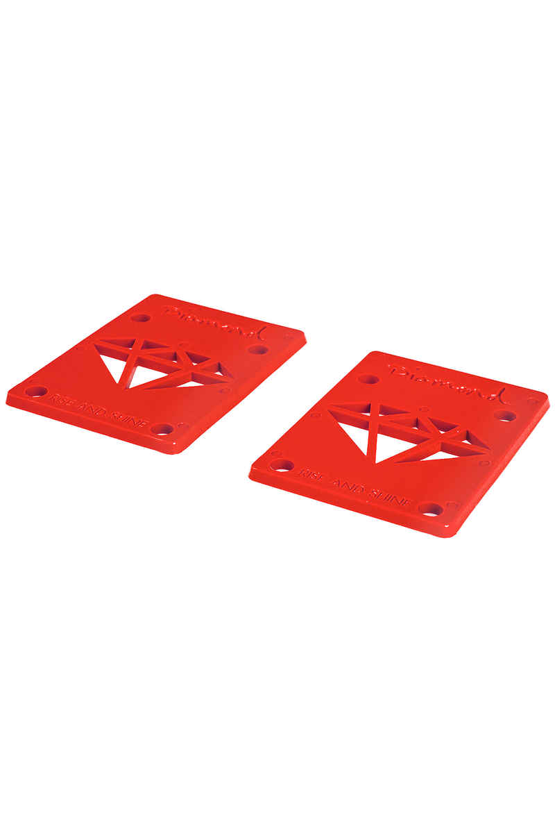"Diamond 1/8"" Basic Riser Pads (red) 2 Pack"