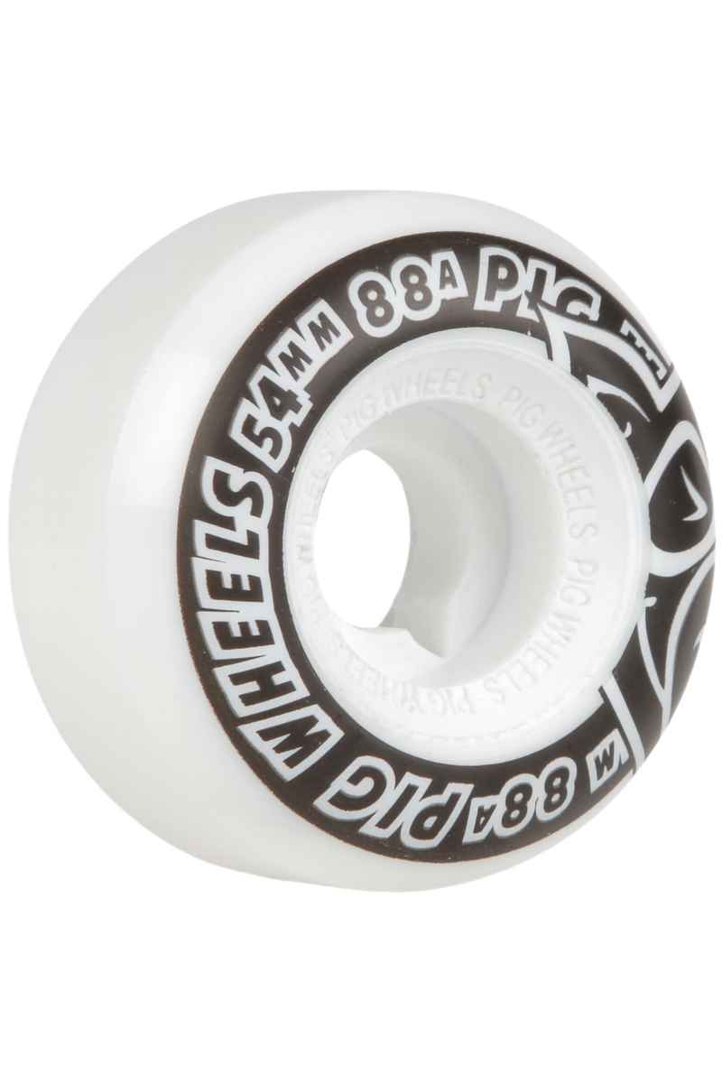 Pig Street Cruiser Natural 54mm Wheels (white) 54mm 4 Pack 88A