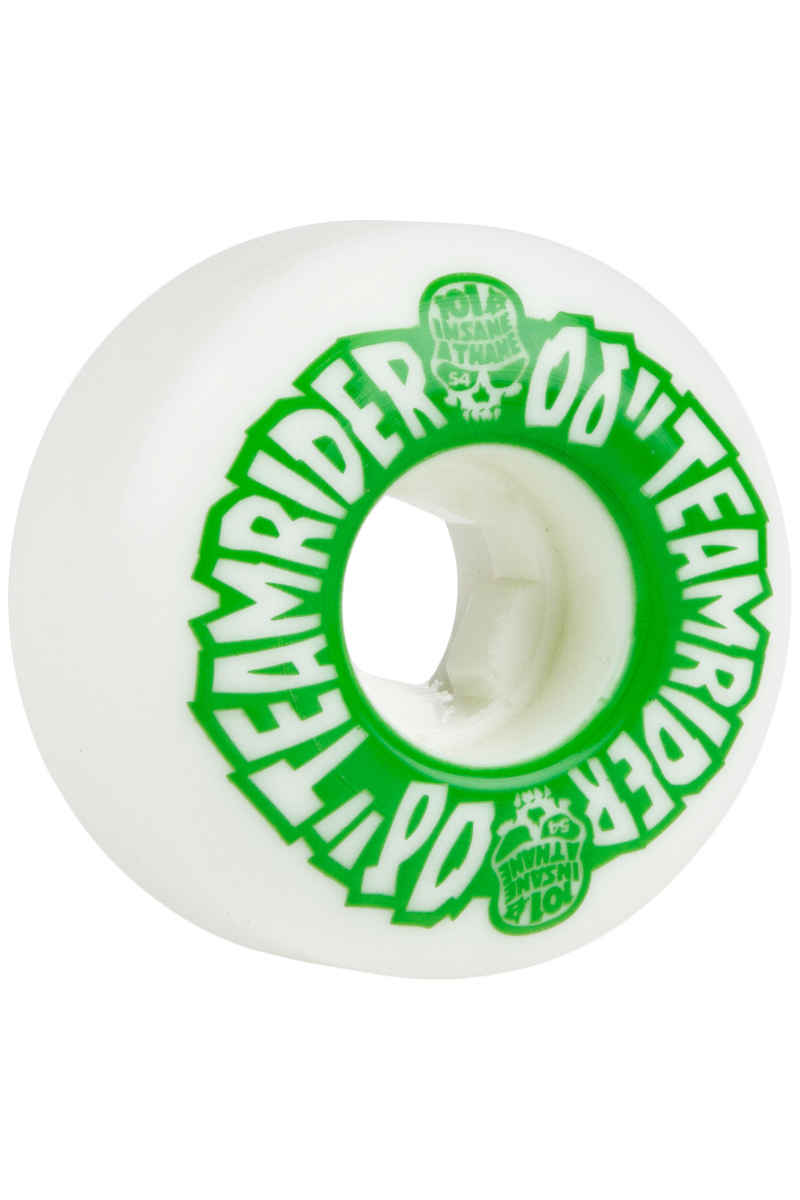 OJ Wheels Team Rider EZ Edge Insaneathane Rollen (white green) 54mm 101A 4er Pack