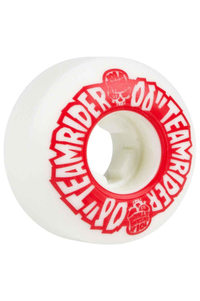 OJ Wheels Team Rider EZ Edge Insaneathane Rollen (white red) 52mm 101A 4er Pack
