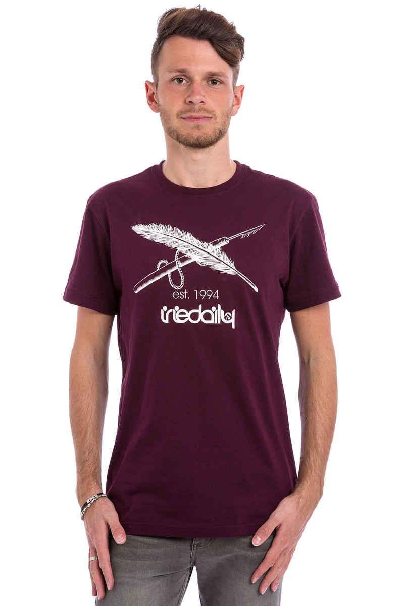 Iriedaily Harpoon Flag T-Shirt (red wine)