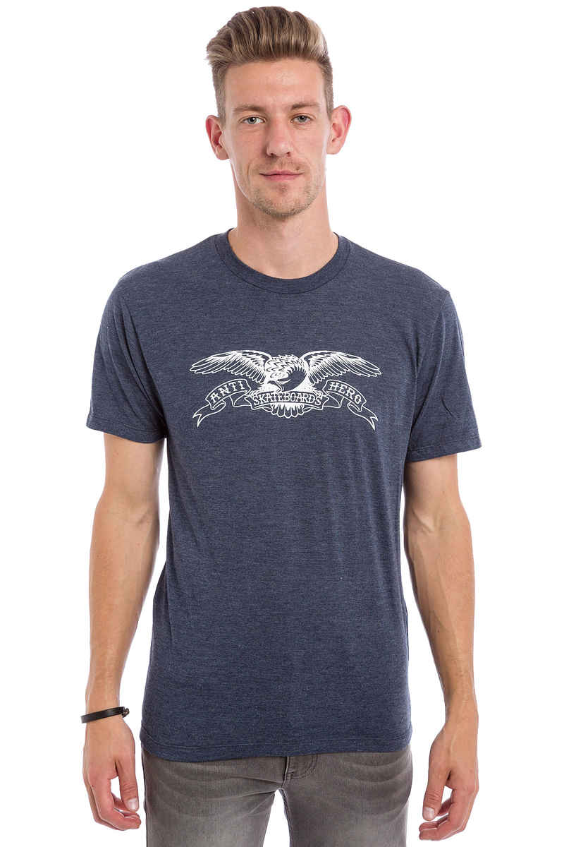 Anti Hero Basic Eagle T-Shirt (navy heather)