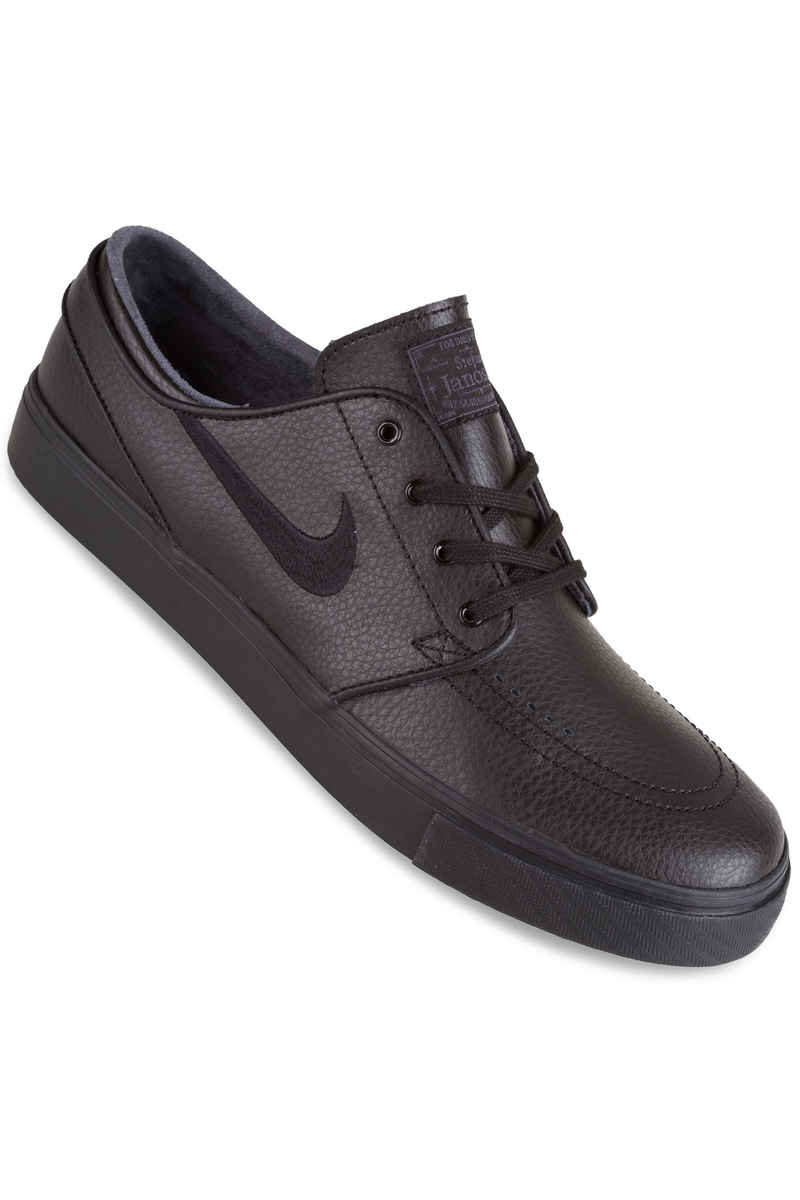 Nike SB Zoom Stefan Janoski Leather Shoes (black black black)