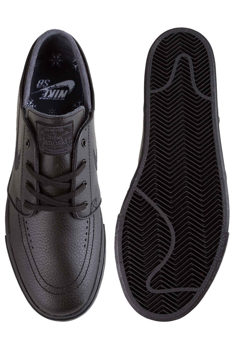 Nike SB Zoom Stefan Janoski Leather Shoes (black black black)