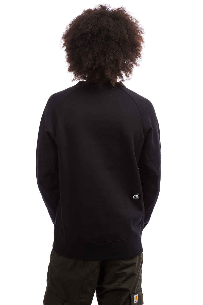 Nike SB Icon Fleece Sweatshirt (black white)