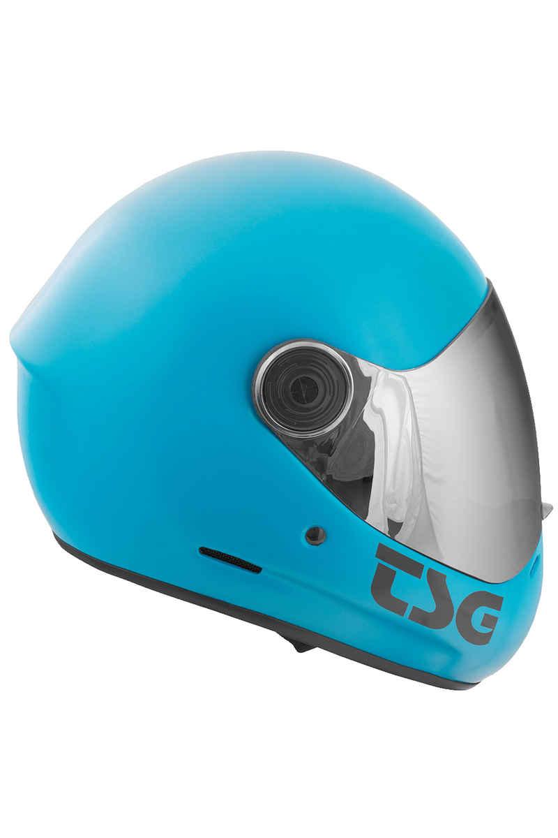 TSG Pass Solid Color Helm (satin dark cyan)