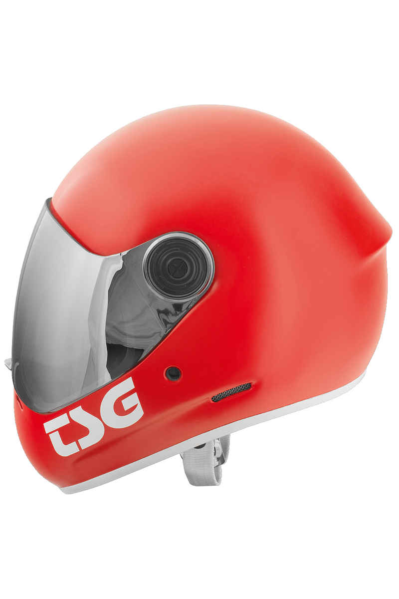 TSG Pass Solid Color Helmet (satin fire red)