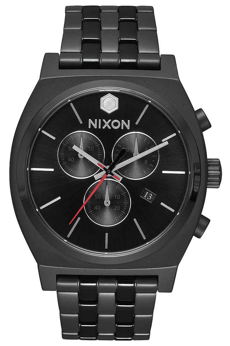 nixon x star wars kylo ren the time teller chrono uhr black kaufen bei skatedeluxe. Black Bedroom Furniture Sets. Home Design Ideas