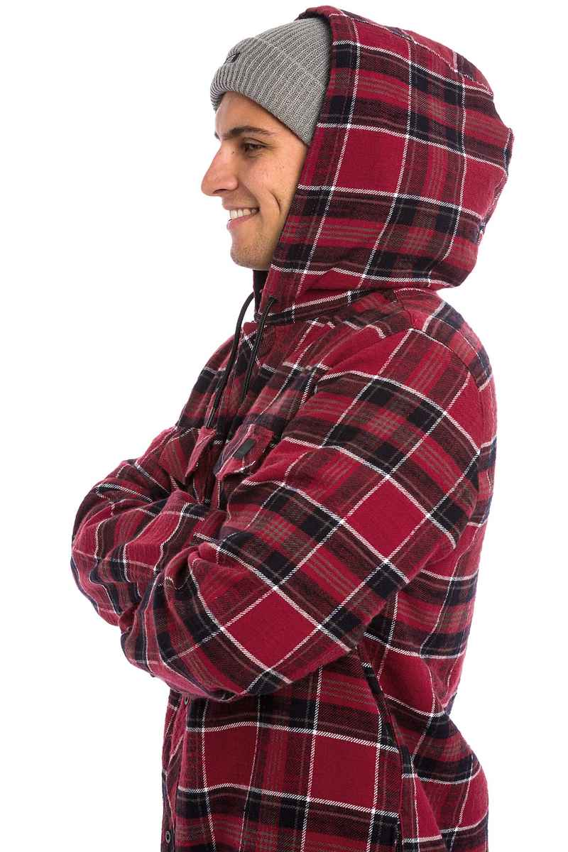 Volcom Burl Insulated Flannel Snowboard Jacke (blood red)