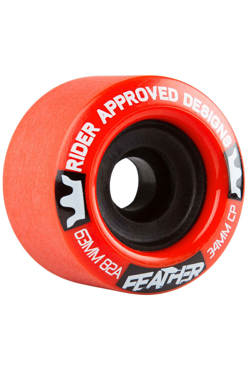 R.A.D. Feather Wiel (red) 4 Pack 63mm 82A