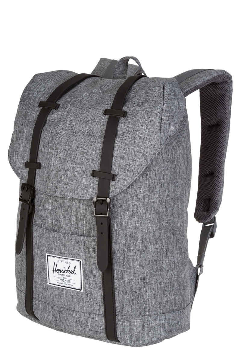 herschel retreat backpack 19 5l raven crosshatch black. Black Bedroom Furniture Sets. Home Design Ideas