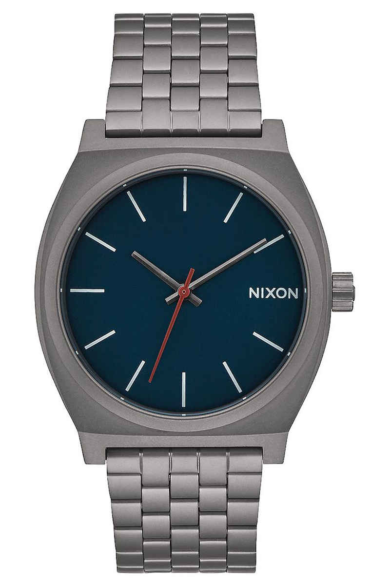 Nixon The Time Teller Watch (all gunmetal dark blue)