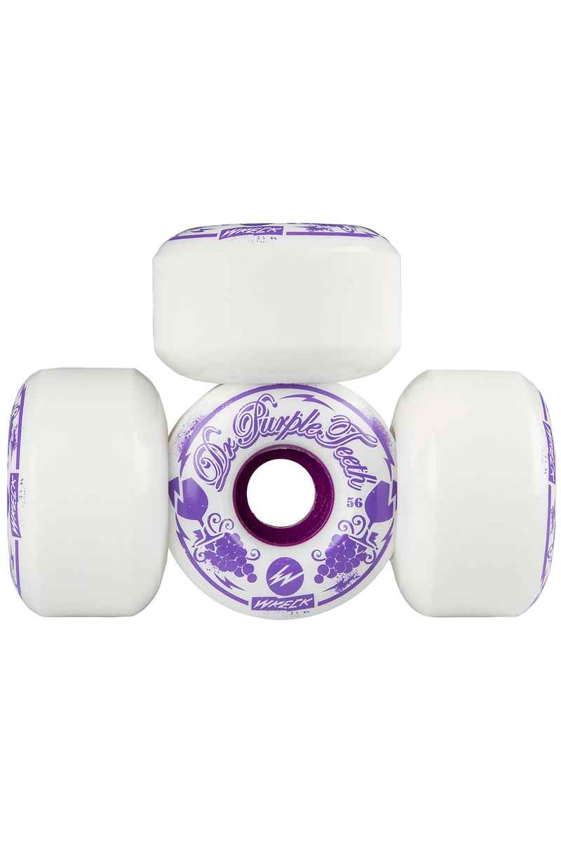 Wreck Dr. Purpleteeth FW Wiel (white) 56mm 103A 4 Pack