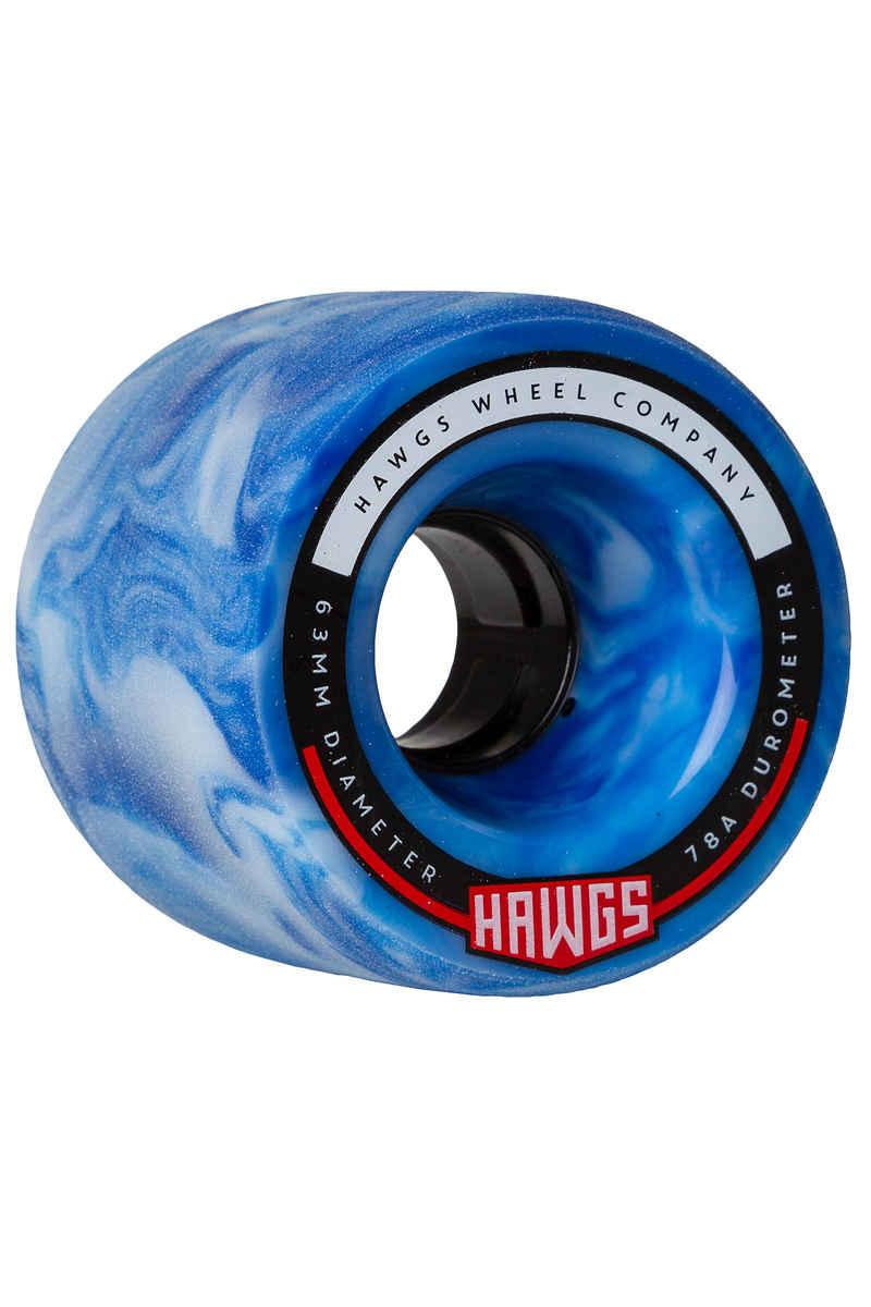 Hawgs Fattie Roue (skyblue swirl) 4 Pack 63mm 78A