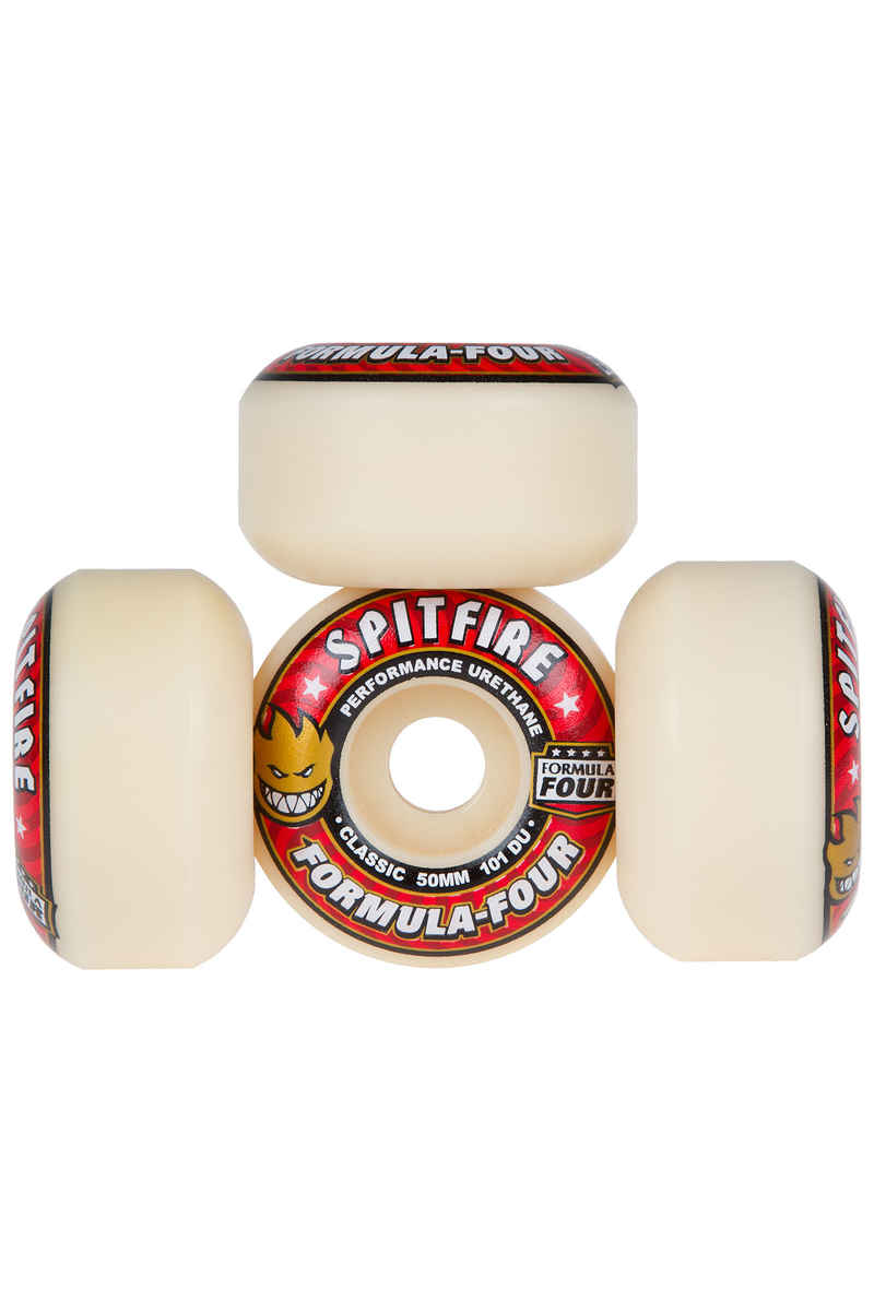 Spitfire Formula Four Classic Wiel (white red) 50mm 101A 4 Pack