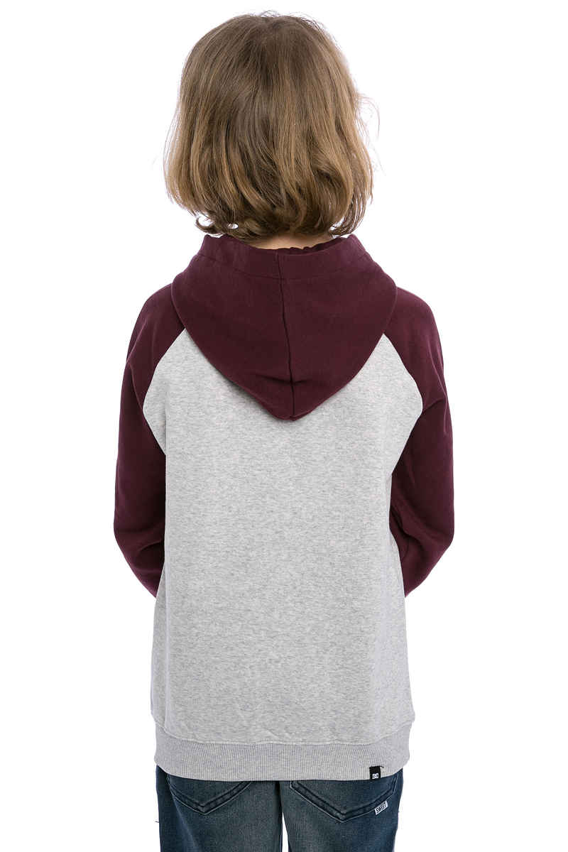 DC Smashed Raglan Hoodie kids (light heather grey)