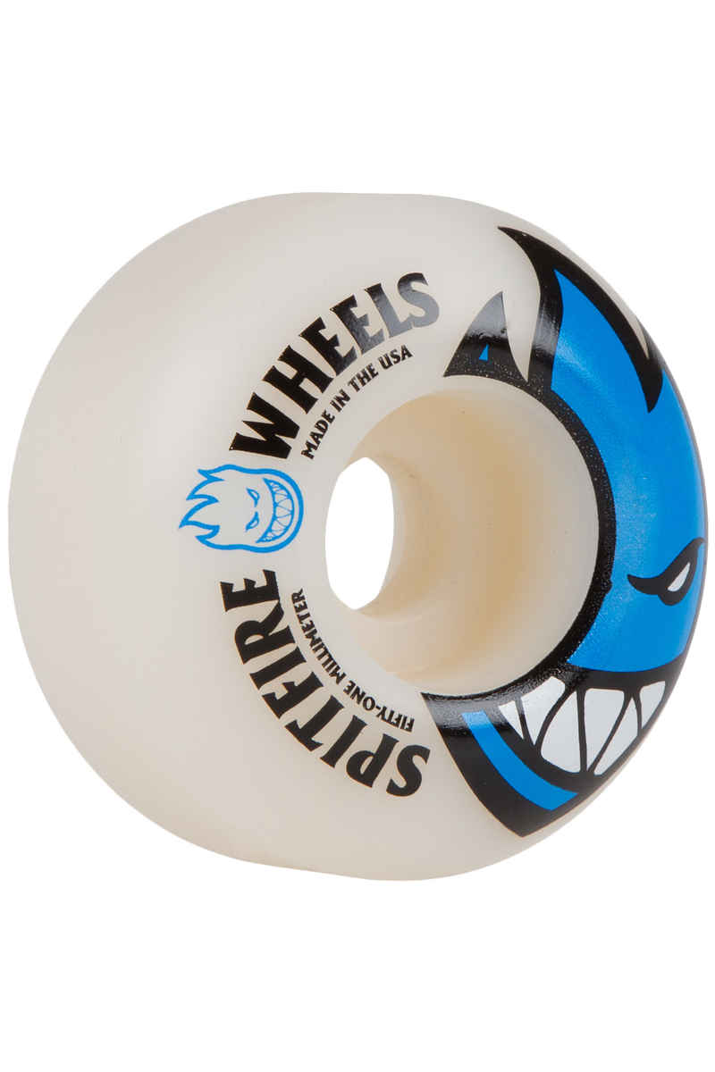Spitfire Bighead Wheels (white blue) 51mm 99A 4 Pack