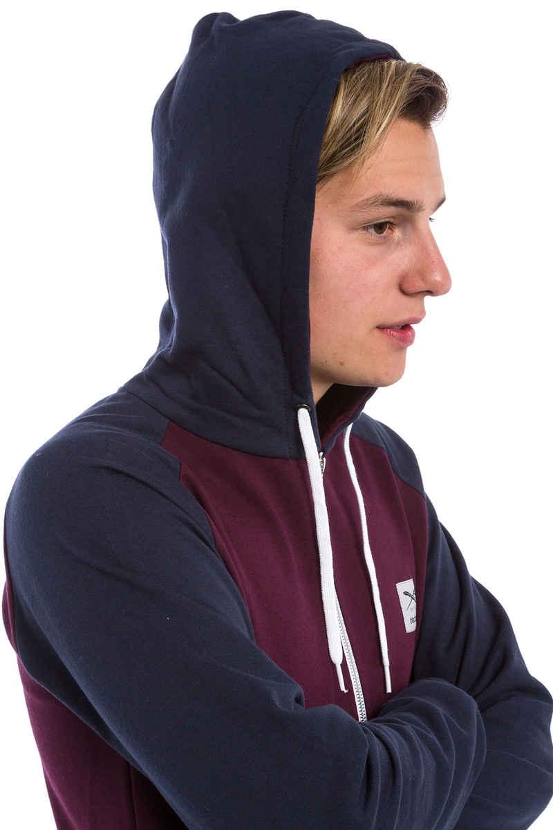 Iriedaily De College Zip-Sweatshirt avec capuchon (red wine)
