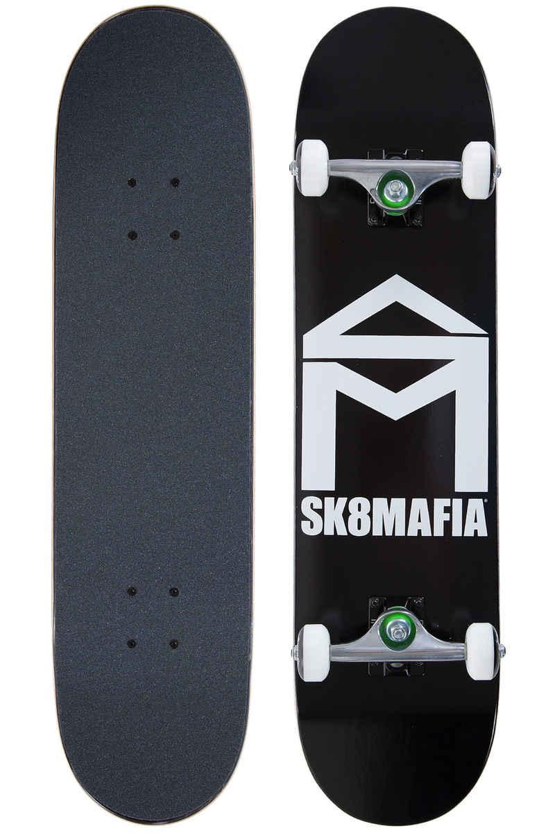 "Sk8Mafia House Logo 7.75"" Complete-Skateboard (black)"
