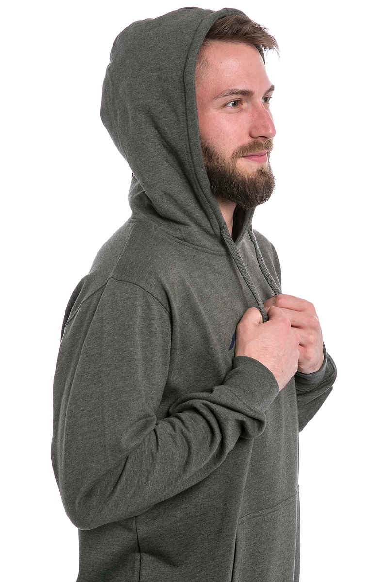 Cleptomanicx Möwe Hoodie (heather dark olive)