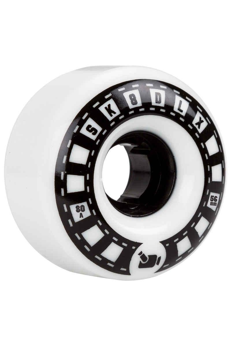 SK8DLX VHX Cruiser Series Wheels (white black) 56mm 4 Pack 80A